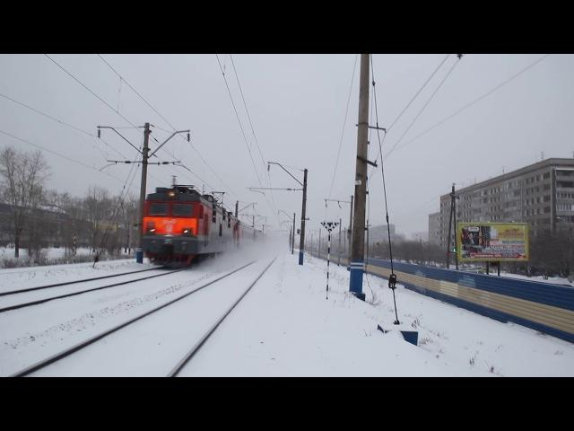 ЭП1-021 со скорым поездом №008 Новосибирск – Владивосток