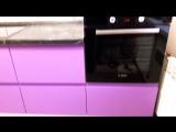 кухня в цвете черника