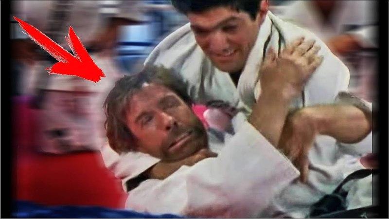 Чак Норрис: реальный бой против борца Грейси ММА