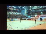 Анастсия Сергеева - обруч (опробование) // Чемпионат Европы 2018, Гвадалахара
