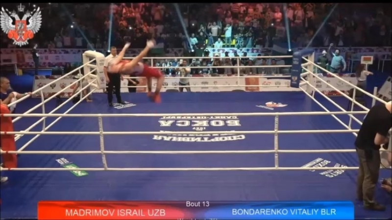 Исраил Мадримов (Узбекистан) - фирменный стиль празднование победы