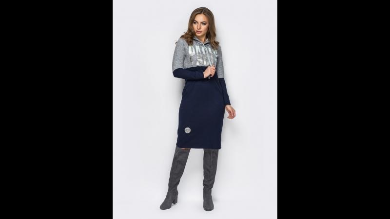 535грн ПЛАТЬЕ 12015 42 44 46 48 50 52 Уютное трикотажное платье с длинными рукавами. По бокам платья функциональные карманы. Пол