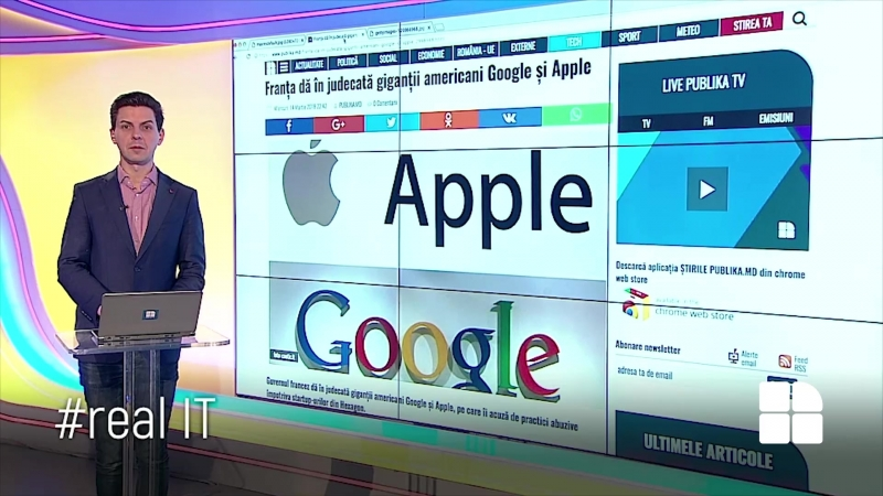 RealIT. Marile companii de internet vor fi taxate. Franța dă în judecată Apple și Google pentru clauze abuzive www.publ