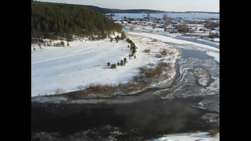Апрель 2018, река Реж готовится к ледоходу.
