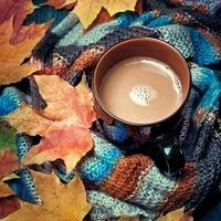 Осень. Какао. Тепло.