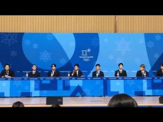 180221 EXO XIUMIN @ PyeongChang 2018 Winter Olympics Closing Ceremony Press Conference