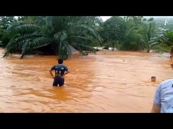Мощное наводнение затронуло несколько районов Индонезии 21 22 мая 2018