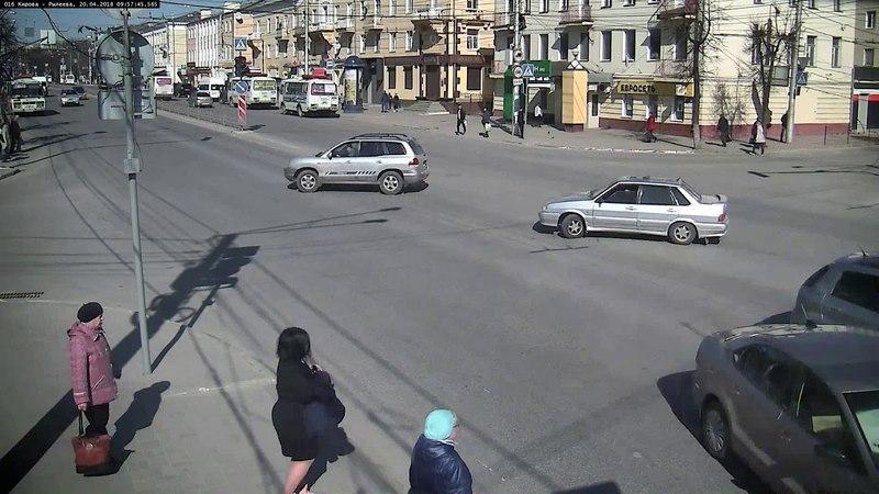 Авария на перекрёстке Кирова-Рылеева