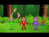 Five Little Monkeys Jumping On The Bed _ Part 2 - The Robot Monkeys _ ChuChu TV Kids Songs