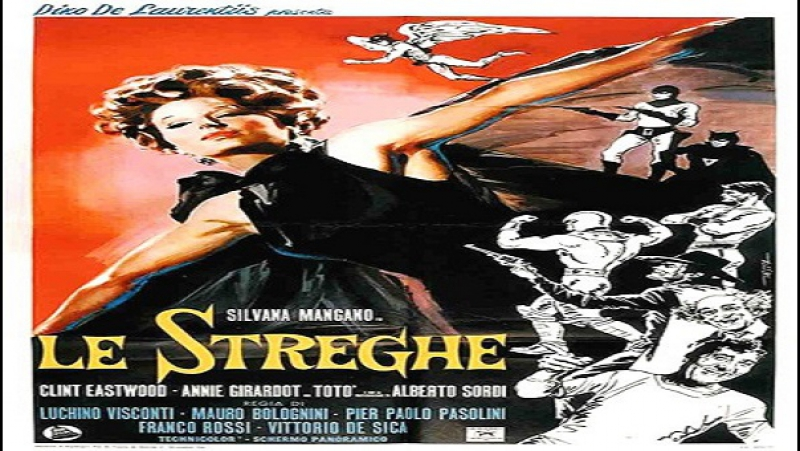 1967 Luchino Visconti,e altri -Le Streghe -Totò Silvana Mangano Alberto Sordi Ninetto Davoli Clint Eastwood Annie Girardot Massi