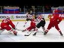 Чемпионат мира по хоккею. Пятая шайба сборной Канады. Сборная России - сборная Канады.