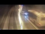 Вчерашняя авария Лексуса с автобусом в тоннеле по дороге в Красную поляну