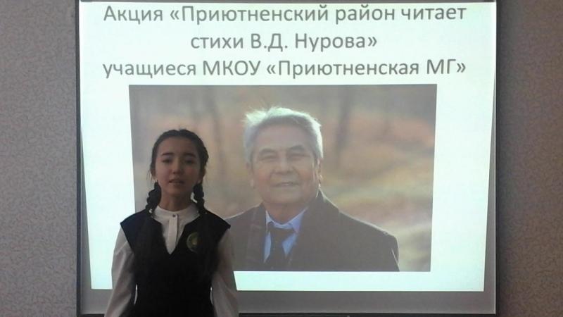 Санджиева Екатерина ученица 8 класса ПМГ