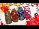 ❤️ Дизайн ногтей к 14 февраля ❤️ Экспресс-дизайн с трафаретами 💙 2