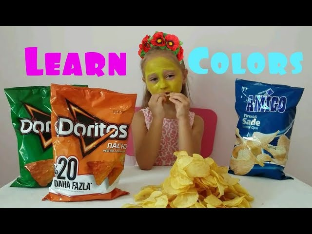 Learn colors with Chips for Kids Johny Johny Yes PaPa Nursery Rhymes Song Toys And Milli