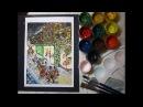 Новогодняя суета (рисуем гуашью)Christmas (painting, gouache)