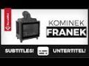 Kominek FRANEK - żeliwny wkład kominkowy od firmy Kratki, masywny, wysokie parametry, tradycyjny