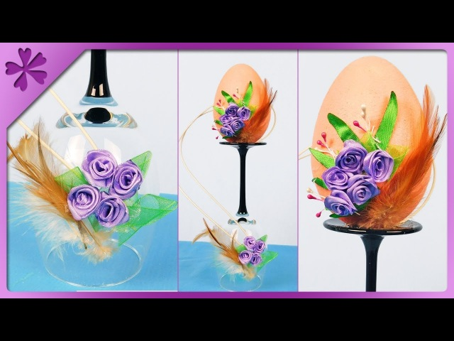 DIY How to make Easter egg on wine glass, Easter decoration (ENG Subtitles) - Speed up 463