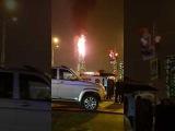 Елка сгорела на площади Ленина в Южно-Сахалинске