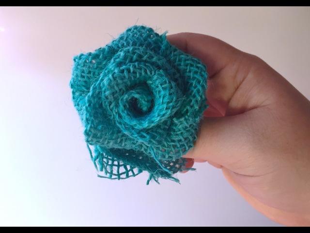 Make Easy Burlap Roses