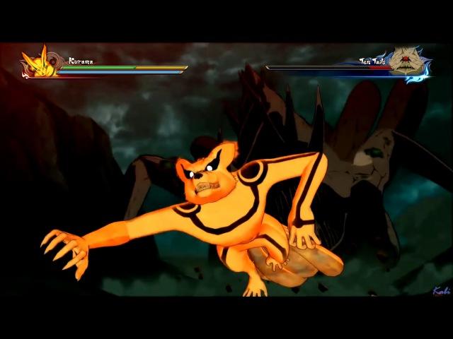 Kurama and Allied Shinobi Forces vs Ten Tails : Naruto Shippuden Ultimate Ninja Storm 4