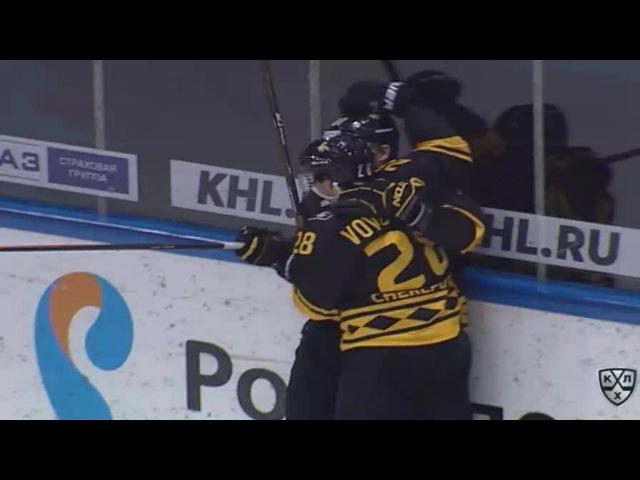 Моменты из матчей КХЛ сезона 16/17 • Гол. 1:1. Максим Трунёв (Северсталь) совершил индвидуальный проход 10.12