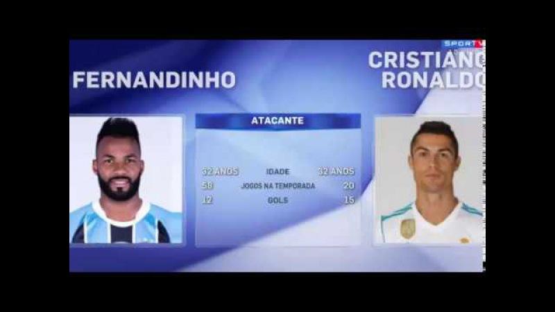 Redação Sportv   Real Madrid e Grêmio veja a Comparação dos Jogadores 15/12/2017