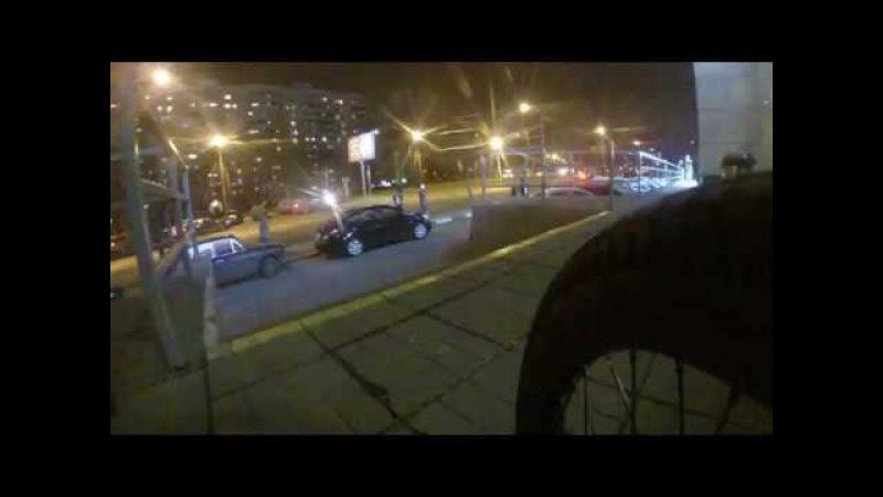 китайское крепление GoPro на велосипед BMX оторвалось)