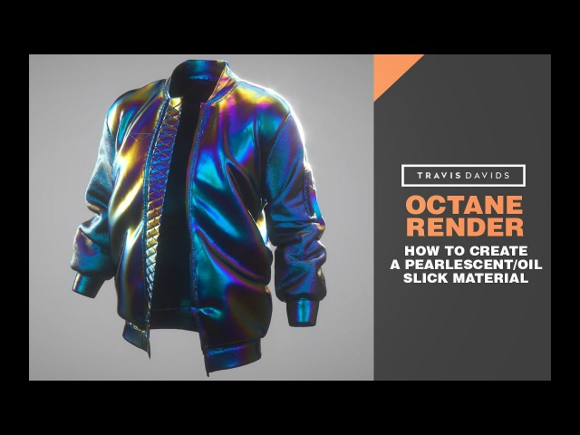 Octane Render - How To Create A Pearlescent or Oil Slick Material