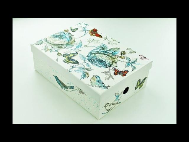 Decoupage paper mache box - Fast Easy Tutorial - DIY
