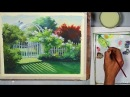 Acrylic Painting | Beautiful Garden Gate Painting step by step