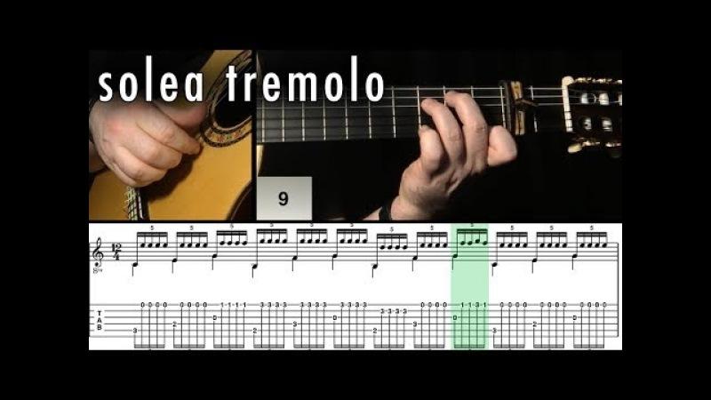 Flamenco Guitar 102 - 04 Solea Tremolo