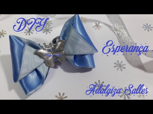 DIY - Laço para Natal e Ano Novo - Esperança passo a passo (handmade) por Adalgiza Salles