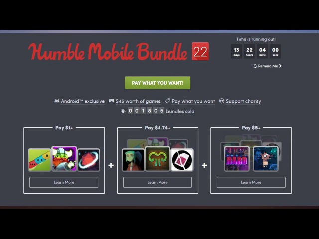 Latest Humble Mobile Bundle offers up a variety of Android games on the cheap