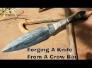 Knife Making - Forging A Dagger Out Of A Crow Bar