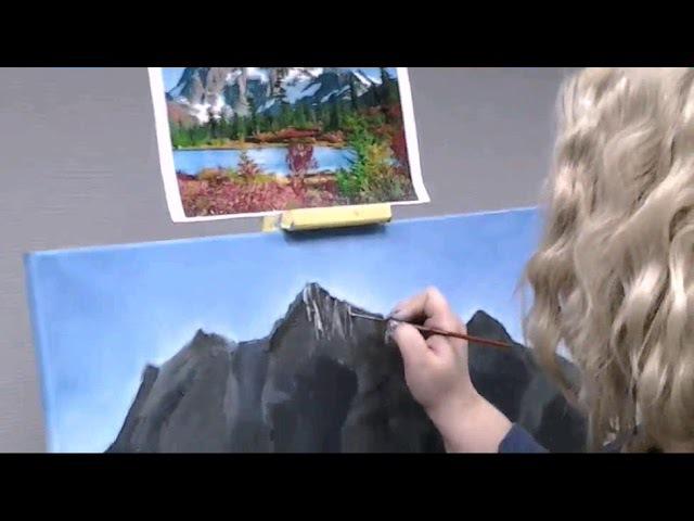 Юдина Анастасия. Горный пейзаж. Пошаговое рисование.
