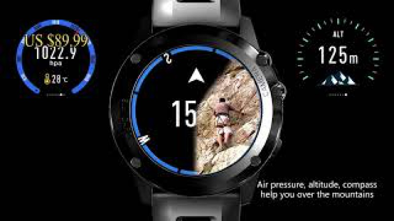 Microwear H1 A1 android 1.39 дюйма MTK6572 SmartWatch Phone Support 3 г Wi-Fi GPS Nano SIM GSM WCDMA