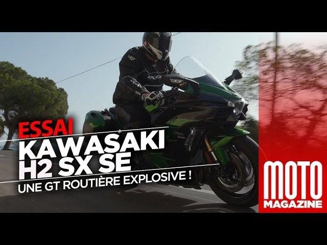 Kawasaki Ninja H2 SX SE - la Ninja sort ses griffes - Essai Moto Magazine 2018