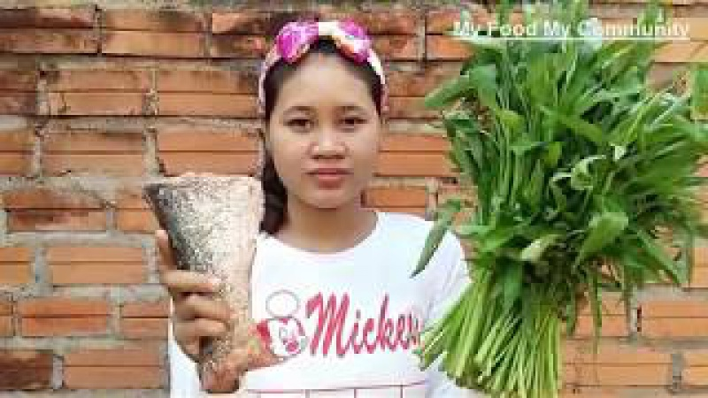 Awesome Cooking Soup Water Convolvulus W/ Fish Recipe - Cook Fish Recipes - Village Food Factory