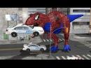 Crazy Spider-Man Dinosaur Finger Family