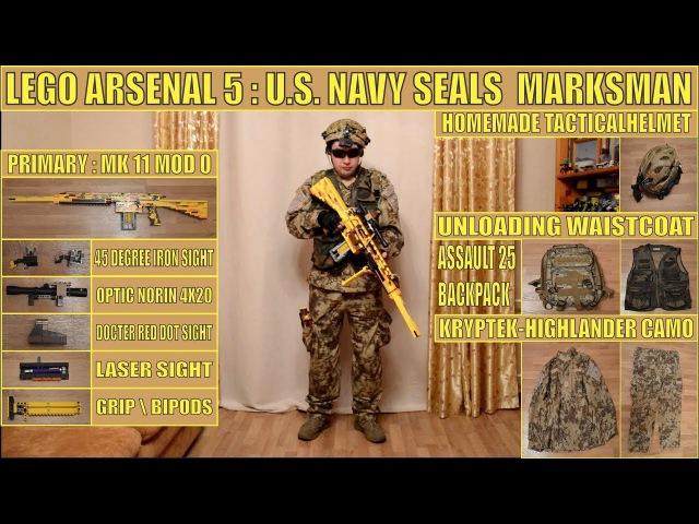 LEGO ARSENAL № 5 | US NAVY SEALS | SR-25 | SIG P-226 | KA-BAR | M-67