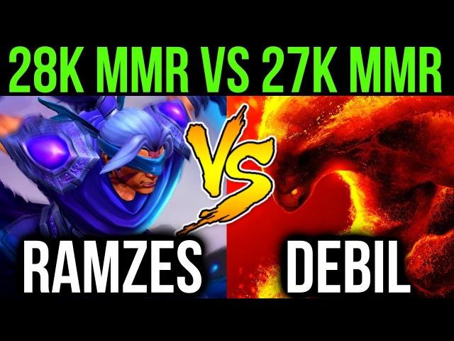Ramzes666 vs Debil Dota2 Young Genius Battle Ex 28k vs 27k MMR Battle