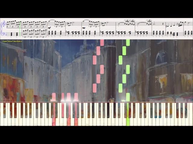Adagio Eleni Karaindrou Ноты и Видеоурок для фортепиано piano cover