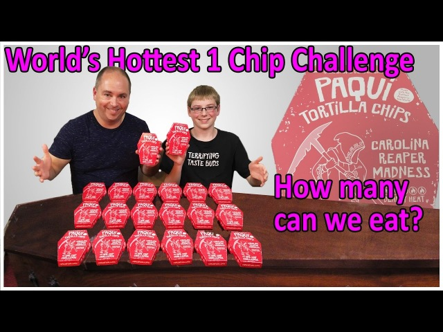 World's Hottest One Chip Challenge ... how many can we eat? : Crude Brothers
