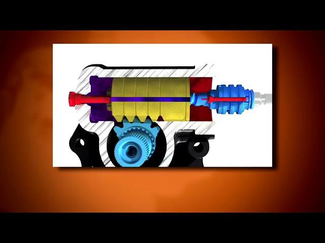 Рульовий механізм гвинт-гайка-рейка-сектор