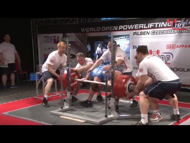 Dmytro Semenenko - 1090.5kg 1st Place 105kg - IPF World Open Powerlifting Championship 2017