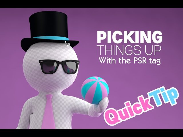 Pick up objects in Cinema4D with PSR tag