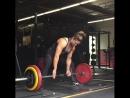 Кристен Дансмур, тяга 170 кг на 3 раза