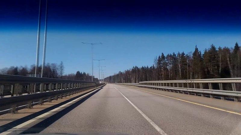 Едем по м11 в сторону Питера ) 160 кмч