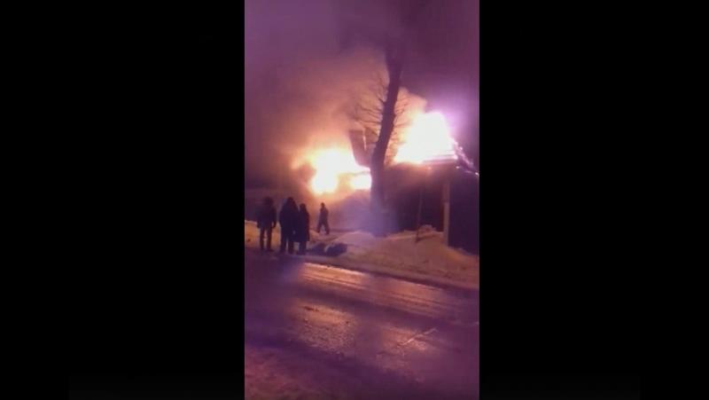 Пожар в деревне Большое Нуркеево